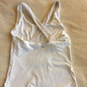 Alo Yoga white tank top